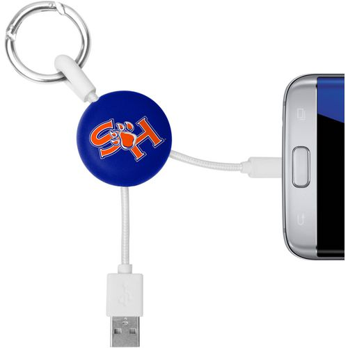 Mizco Sam Houston State University Micro Phone Charger Keychain Cable