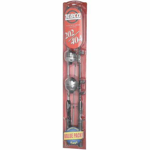 "Zebco 202/404 5'6"" Freshwater Spincast Rod and Reel Combos Dual Pack"