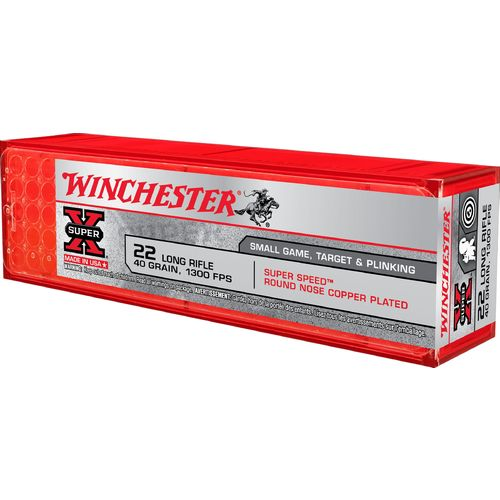 Winchester Super-X Lead Round-Nose .22 Long Rifle 40-Grain Rifle/Handgun Ammunition