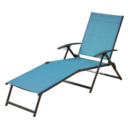 Mosaic Folding Sling Chaise Lounge