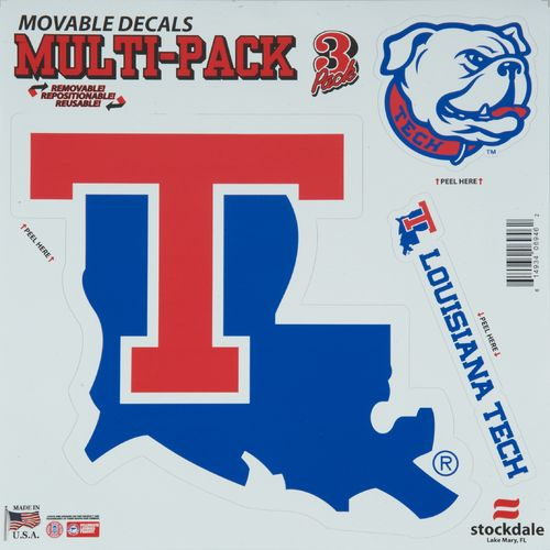 "Image for Stockdale NCAA 12"" x 12"" Repositional Vinyl Decals Multipack from Academy"