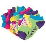 BCG™ Toddler Girls' Ultrathin No-Show Days of the Week Socks 7-Pack