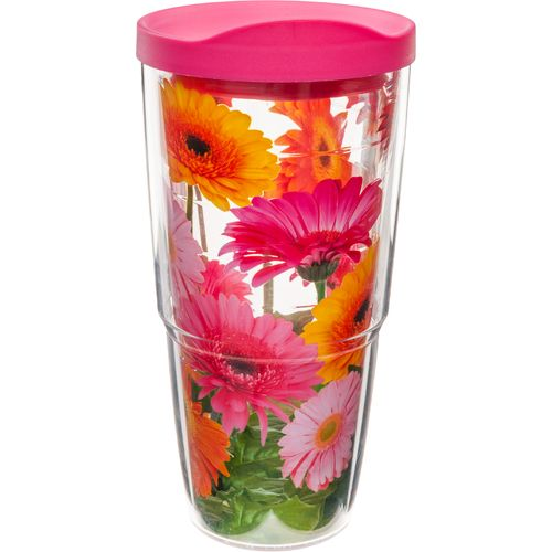 Tervis Gerbera Daisies Wrap 24 oz. Tumbler with Lid