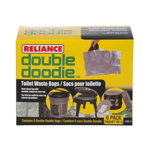 Reliance Double Doodie Toilet Waste Bags 6-Pack