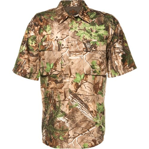 Game winner men 39 s dura cool short sleeve camo fishing for Camo fishing shirt