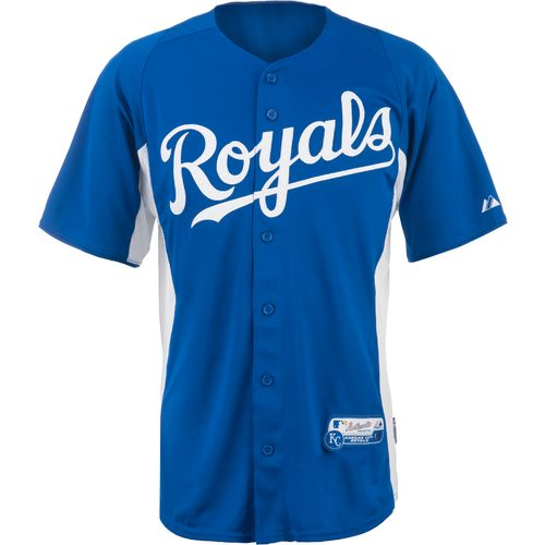 Majestic Adults  Kansas City Royals Cool Base  Replica Batting Practice Jersey