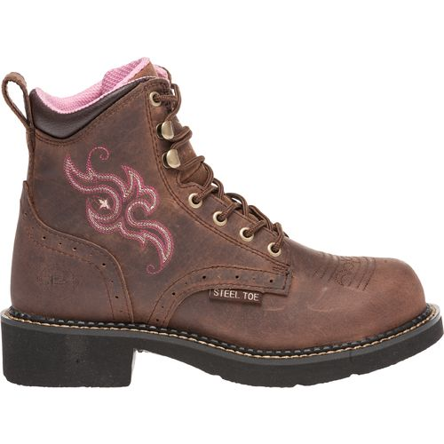 Justin Women s Gypsy  Aged Bark Steel Toe Work Boots