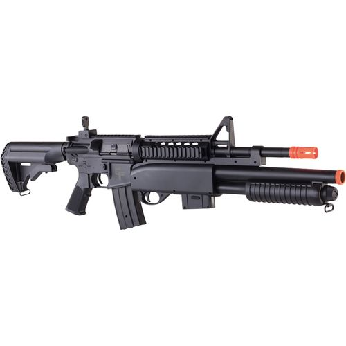 Game Face GFRS Tormentor™ 6mm Caliber AEG Airsoft Rifle with Built-In Shotgun