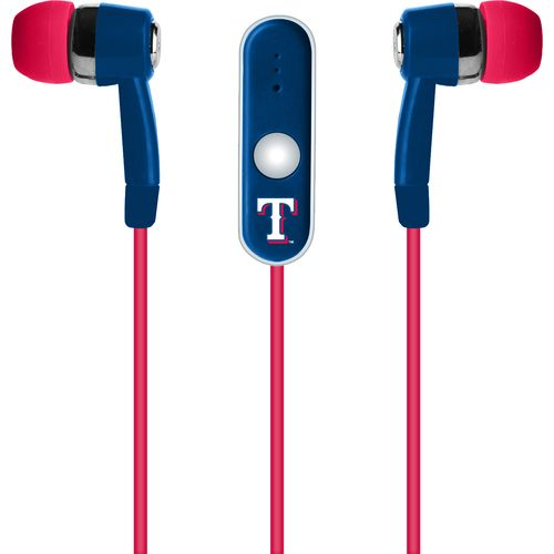 Mizco Texas Rangers Stereo Hands-Free Earbuds