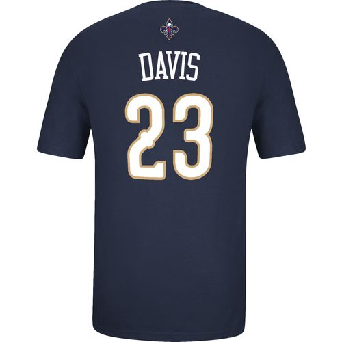 adidas Men's New Orleans Pelicans Anthony Davis No. 23 Game Time Flat T-shirt - view number 2