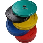 Body-Solid 260 lb. Olympic Colored Bumper Plate Set