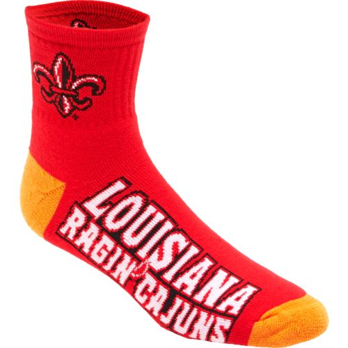For Bare Feet Men's University of Louisiana at Lafayette 501 Quarter Socks