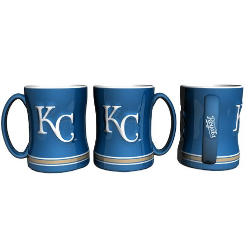 Boelter Brands Kansas City Royals 14 oz. Relief Style Coffee Mug