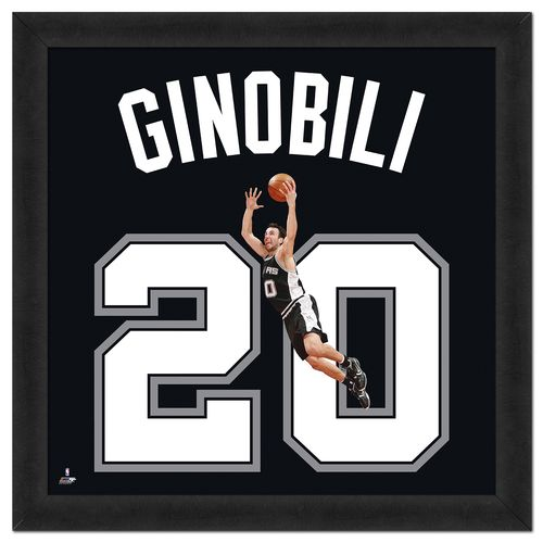 Photo File San Antonio Spurs Manu Ginobili #20 UniFrame 20' x 20' Framed Photo