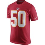 Nike Men's Kansas City Chiefs Justin Houston 50 Player Pride T-shirt - view number 2