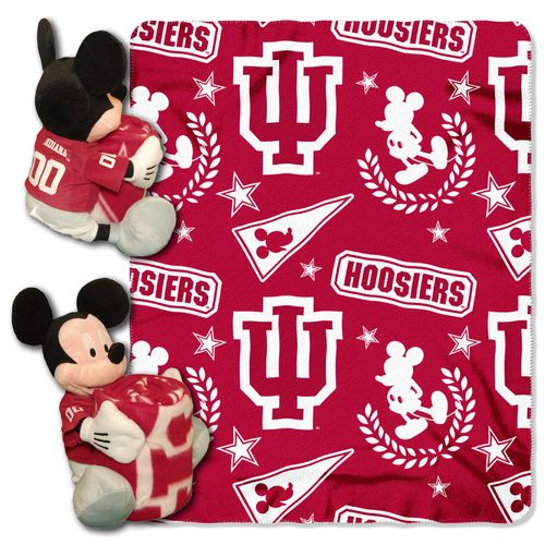 The Northwest Company Indiana University Mickey Mouse Hugger and Fleece Throw Set - view number 1