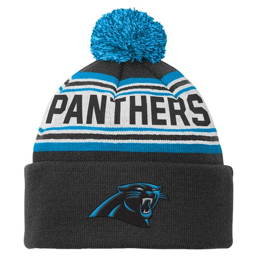 NFL Kids' Carolina Panthers Cuffed Knit Cap with Pom