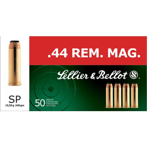 Sellier & Bellot .44 Remington Magnum 240-Grain Soft Point Centerfire Handgun Ammunition