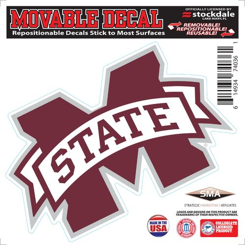 Stockdale Mississippi State University 6' x 6' Decal