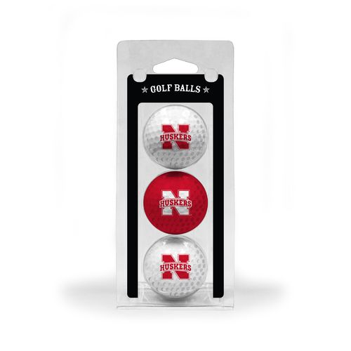 Team Golf University of Nebraska-Lincoln Golf Balls 3-Pack