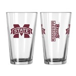 Boelter Brands Mississippi State University Game Day 16 oz. Pint Glasses 2-Pack