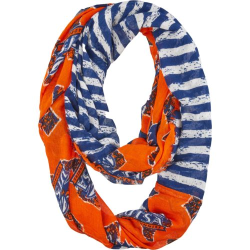 ZooZatz Women's University of Texas at San Antonio Stripe Infinity Scarf