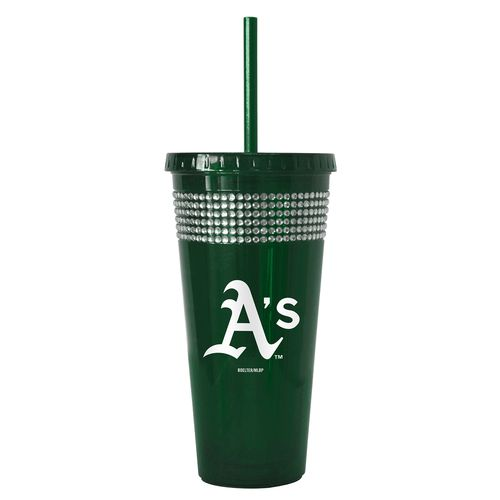 Boelter Brands Oakland Athletics 22 oz. Bling Straw Tumblers 2-Pack