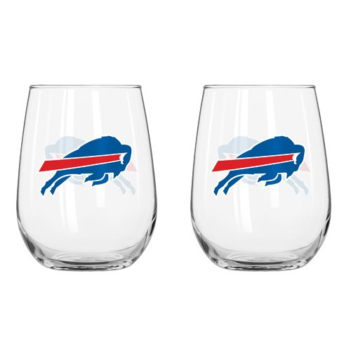 Boelter Brands Buffalo Bills 16 oz. Curved Beverage Glasses 2-Pack