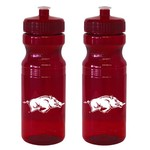 Boelter Brands University of Arkansas 24 oz. Squeeze Water Bottles 2-Pack - view number 1