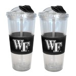 Boelter Brands Wake Forest University 22 oz. No-Spill Straw Tumblers 2-Pack - view number 1