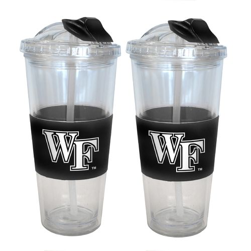 Boelter Brands Wake Forest University 22 oz. No-Spill Straw Tumblers 2-Pack