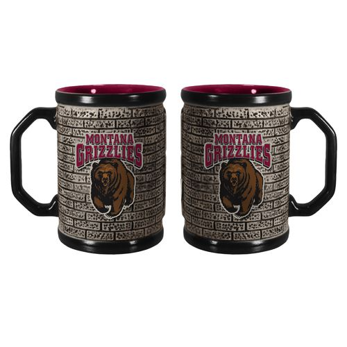 Boelter Brands University of Montana Stone Wall 15 oz. Coffee Mugs 2-Pack