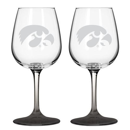 Boelter Brands University of Iowa 12 oz. Wine Glasses 2-Pack - view number 1