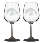 Boelter Brands University of Iowa 12 oz. Wine Glasses 2-Pack