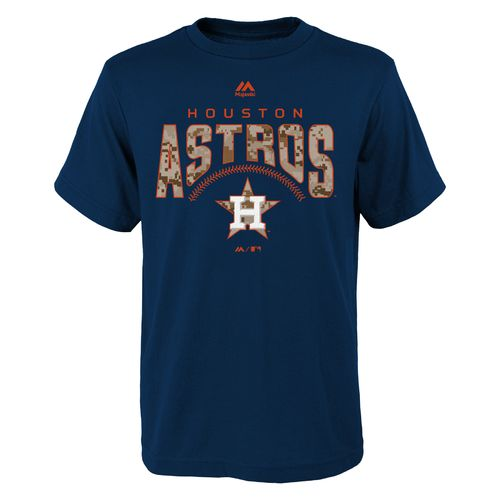 Majestic Boys' Houston Astros Digi Camo Short Sleeve