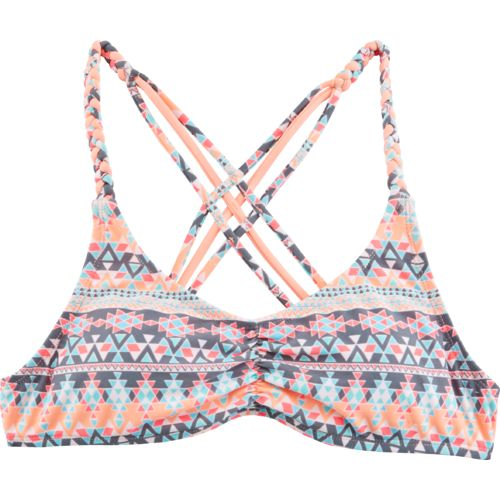 O'Rageous® Juniors' Triangle Tribal Bralette Swim Top
