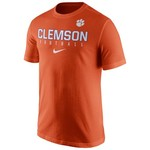 Nike Men's Clemson University Short Sleeve Practice T-shirt