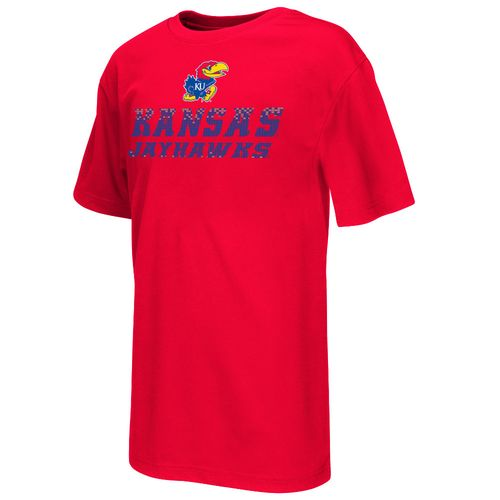 Colosseum Athletics™ Boys' University of Kansas Pixel Short Sleeve T-shirt