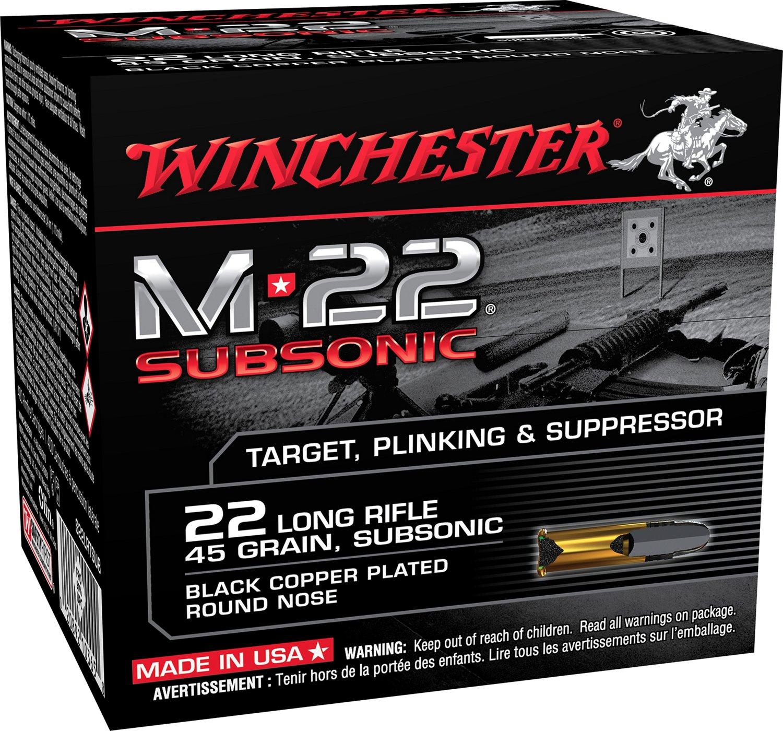 WIN M-22 SUBSONIC 22LR 45GR LRN 800RDS:22 LR:45