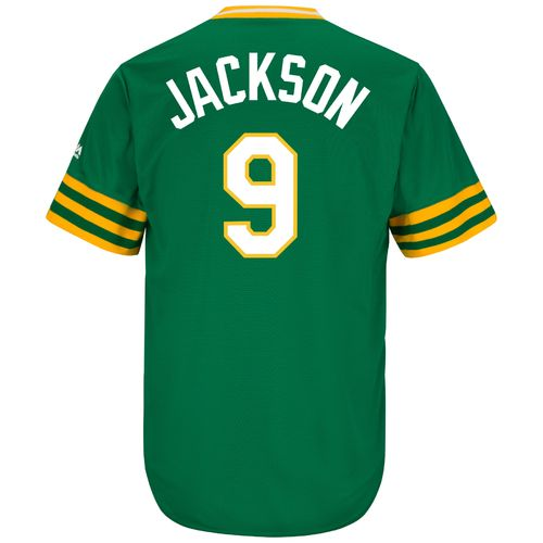 Majestic Men's Oakland Athletics Reggie Jackson #9 Cooperstown Cool Base 1987 Replica Jersey