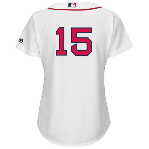 Majestic Women's Boston Red Sox Dustin Pedroia #15 Cool Base Replica Home Jersey