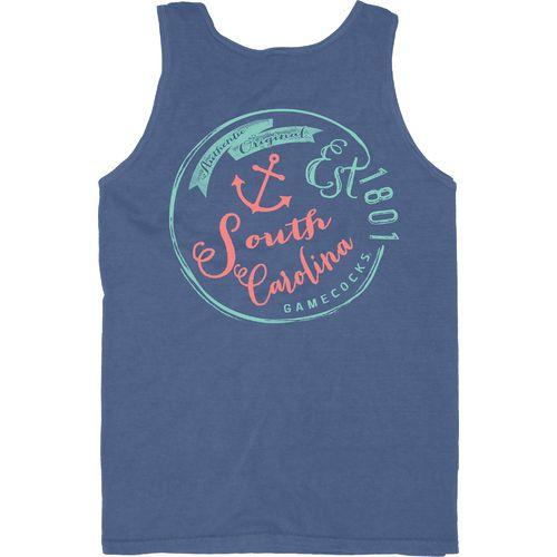 Blue 84 Men's University of South Carolina Overdyed Neon Tank Top