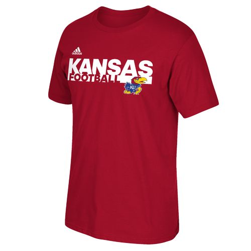 adidas™ Men's University of Kansas Sideline Grind Football T-shirt
