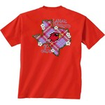 New World Graphics Women's Lamar University Bright Plaid T-shirt