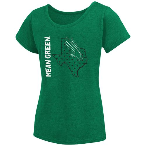 Colosseum Athletics Girls' University of North Texas T-shirt