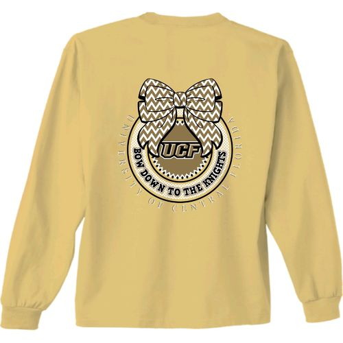 New World Graphics Women's University of Central Florida Ribbon Bow Long Sleeve T-shirt