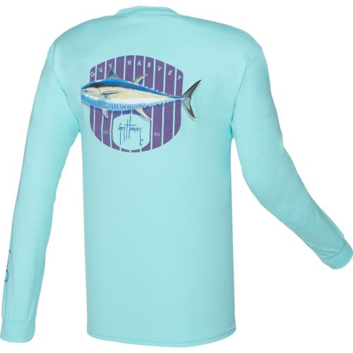 Guy Harvey Men's Bluefin Long Sleeve Pocket T-shirt