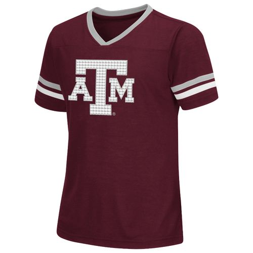 Colosseum Athletics™ Girls' Texas A&M University Titanium T-shirt