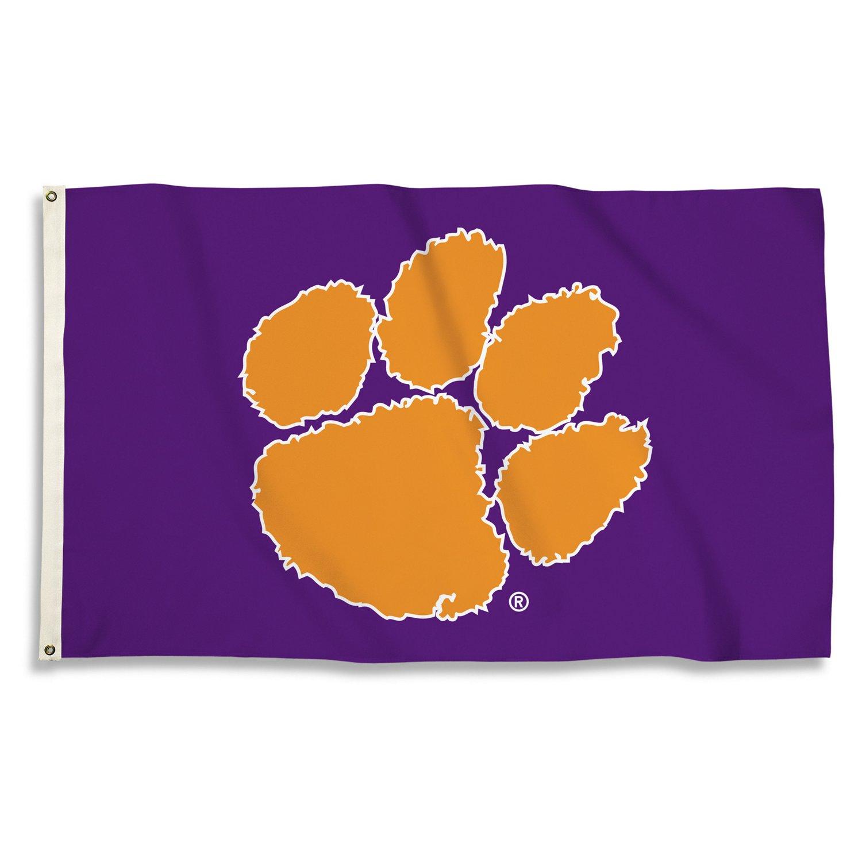 BSI Clemson University 3'H x 5'W Paw Logo Flag