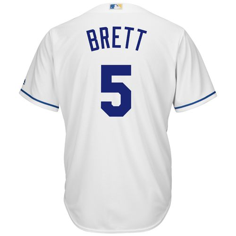 Majestic Men's Kansas City Royals George Brett #5 Cool Base Replica Jersey